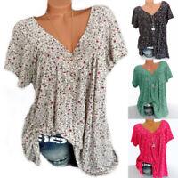 Women Summer T-shirts Short Sleeve Blouses Casual Tops