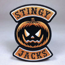 Hallows Eve Halloween Biker Patch: Stingy Jack -  Pumpkin  Witch Ghost Haunted