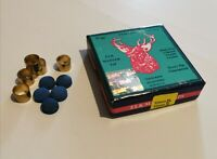 5 x 10mm & 9mm Brass Snooker / Pool Cue Ferrule & Elkmaster Tip. UK Seller. New