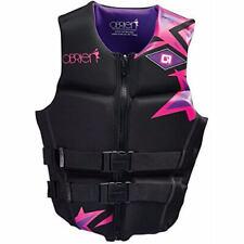 New O'Brien Hinged Women's V Back Life Vest – Violet/Black Women's Large