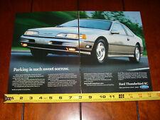 1990 FORD THUNDERBIRD SC ORIGINAL 2 PAGE AD