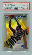 Michael Jordan 1997-98 Fleer Ultra Ultrabilities SuperStar Refractor PSA 8 NM-MT