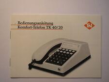 Bedienungsanleitung Komfort-Telefon TK 40/20 von Telenorma
