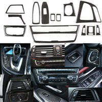 13PCS Real Carbon Fiber Interior Trim Decor Cover For BMW 3 4 Series F30 F34