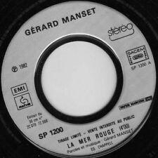 GERARD MANSET LA MER ROUGE / MAUBERT FRENCH 45 SINGLE PROMO
