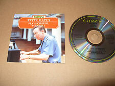 Peter Katin Plays Chopin Volume 1 10 tracks cd 1987 Ex Condition