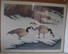 Print Geese Canadian Winter Majesty H Scott 100/200 Limited Edition Signed