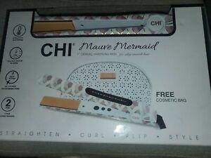 "New~ Chi Mauve Mermaid 1"" Ceramic Hair styling Iron w/ bonus- free cosmetic bag"