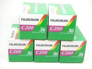 5 Pellicole 35mm Rullino Colore Fuji/Fujifilm Fujicolor C200 200 135-36