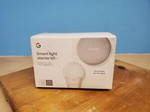 Google Home Mini Smart Light Starter Kit with GE C-Life Smart Bulb (New)