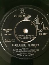 GERRY & THE PACEMAKERS - 1964 Vinyl 45rpm 7-Single - FERRY CROSS THE MERSEY