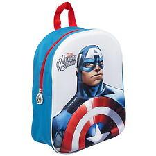NEW OFFICIAL Marvel Avengers Captain America Kids Backpack Rucksack School Bag