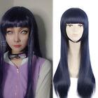 Hyuga Hinata Touma Kazusa Dark Blackish Blue Straight Long Cosplay Wig
