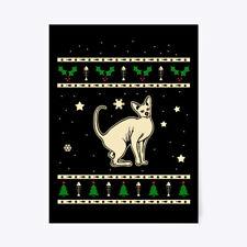 "Fashionable Christmas Peterbald Gift Poster - 18""x24"" Gift Poster - 18""x24"""