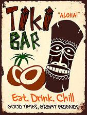 Tiki Bar Retro metal Aluminium Sign vintage / Pub / Bar/ Kitchen / Man Cave