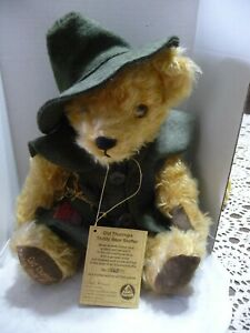 Hermann Mohair Old Thuringia Teddy Bear #562  of 1200 Has  Tags  Germany  Growls