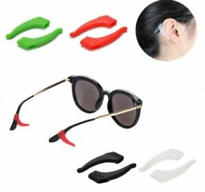 4 pares de gafas antideslizantes, ganchos para los oídos, puntas para anteojos