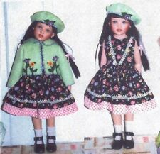"Dress, hat , felt Jacket PATTERN  fits 16"" Helen kish dolls"