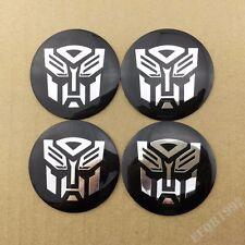 4pcs Transformers Autobots Wheel Center Hub Cap Car Badge Emblem Decal Sticker