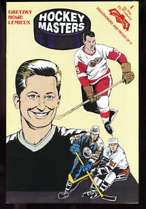 1993 Revolutionary Comic Book Hockey Masters Wayne Gretzky Gordie Howe Lemieux
