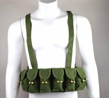 SURPLUS CHINESE MILITARY SKS TYPE 56 SEMI AMMO CHEST-RIG CANVAS BANDOLIER POUCH