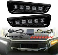 FORD F150 Raptor LED Daytime Running Light DRL with Turn Signal Fog Lamp 17-20