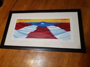 EL SAGRADO MANTO PUERTO RICAN FLAG LIMITED PRINT 350/375 FRAMED PUERTO RICO