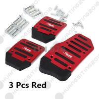 Non-Slip Auto Car Pedal Manual Series Kit Brake Clutch Foot Treadle Pad CoverRed