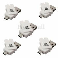 5X 2in1 Micro USB 2.0 OTG Adapter + Micro SD TF Card Reader for Android Phone