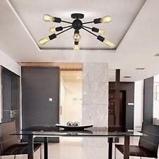 Mid Century Black 8-Light Sputnik Chandelier Modern Pendant Ceiling Light