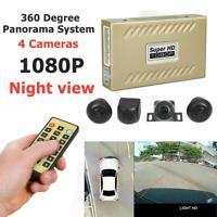 360° Bird View Panorama System 1080P Night Vision Car DVR Recording Rear Camera