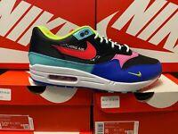 Nike Air Max 1 'Parachute' Black Laser Crimson CU4713-001 Sneakers DOUBLE BOXED
