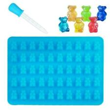 Silicone Gummy Bear Chocolate Mold Candy Maker Ice Jelly Mould Tray 50 I9A9