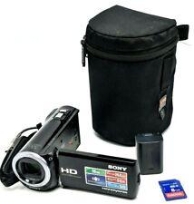 Sony Handycam HDR-CX380 bundle w/ SD card, case battery, case