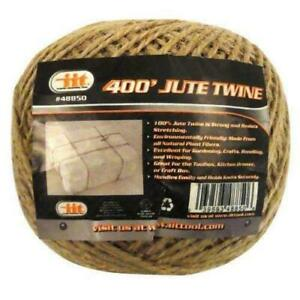 400' all natural premium jute twine string heavy dury Cord Rope Craft Gift DIY