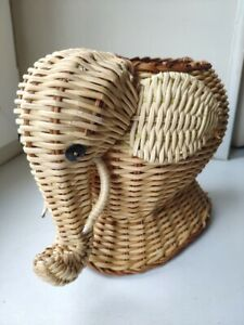 Elephant Wicker  basket