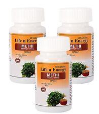 Natural 100% Pure Methi Fenugreek (Trigonella Foenum) Extract Capsules 500 MG