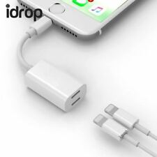 idrop Y Cable Dual Lightning Adapter Audio Charge Jacks Double Functionality Cha