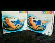 "2 Intex Blue River Run 1 Inflatable 53"" Float Lounge Raft Pool Summer Lot of 2"