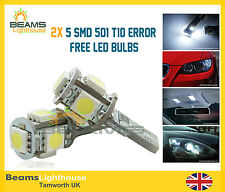 2x 5 SMD LED 501 T10 WSW No Errore Xenon Bianco Lampadine FORD FIESTA FOCUS GALAXY *
