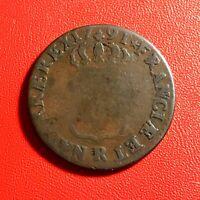 #1522 - RARE - Louis XVI Sol ou sous 1791 R Orléans - FACTURE