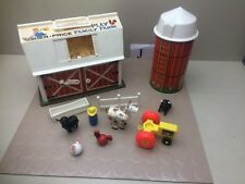 Vintage Fisher Price Play Family Farm Silo Little People Barn Animals