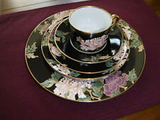 Fitz & Floyd Cloisonne Peony 5pc Place Setting Fine China Japan Guc Retired