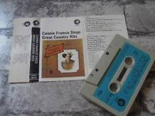 CONNIE FRANCIS Sings Great Country Hits / Album Cassette Tape / UK / 795