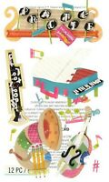 MUSIC School Piano Horn - Jolee's Le Grande Scrapbook Craft Sticker