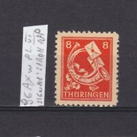 GERMANY 1945 Soviet zone, Mi# 96Axw, plate VI, CV €16, signed, MNH
