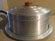 Vintage West Bend Aluminum Covered Cake Container With Removable Cutting Board