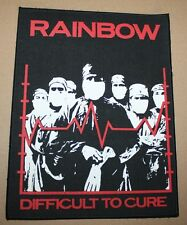 Rainbow, Difficult to.., small printed Backpatch, Vintage 70's / 80's, rar, rare