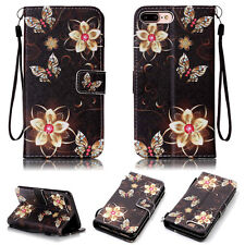 Fashion Wallet PU Leather Card Slot Flip Strap Stand Case Cover For Mobile Phone