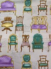 Tela Patchwork Cosmo-sillas De Antiguo